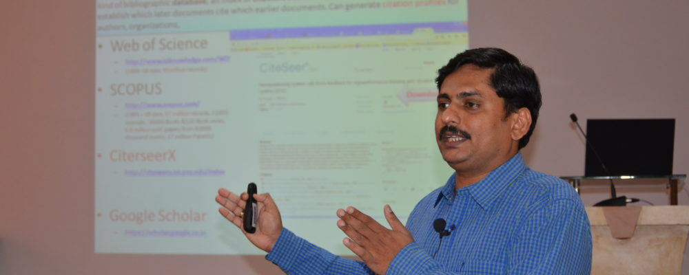Invited talk on Information discovery Tools, Tips and Techniques and Effective Management of Research Literature Tools by Mr.Shivaram Gowda, Senior Technical Officer, CSIR-NAL,Bangalore