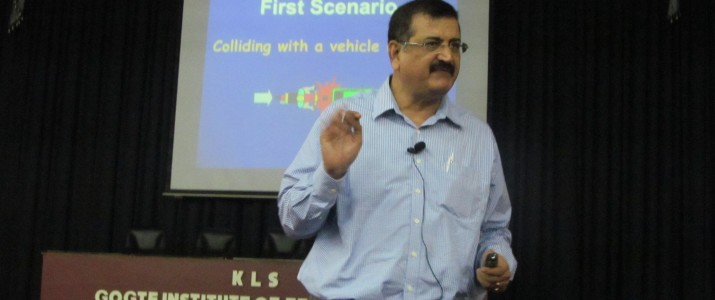 A session on Awareness regarding the traffic safety measures by Mr. Amol Tope